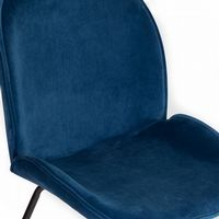 x2 Mmilo Journey Chair with Blue Seat and Black Legs